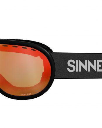 Sinner VORLAGE Skibril met oranje spiegellens mat zwart