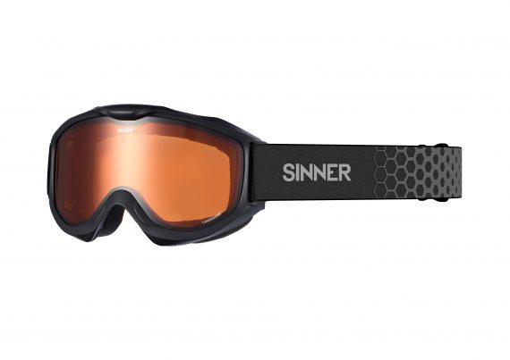 Sinner LAKERIDGE Skibril mat zwart