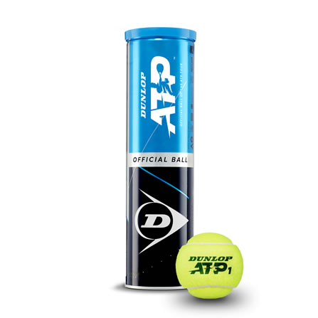 De Dunlop ATP Official Ball 4-TIN. Dit is een gasgevulde bal welke is goedgekeurd door de ATP en wordt internationaal gebruikt als officiële wedstrijdbal. De Dunlop ATP Official Ball 4-TIN is zeer slijtvast.