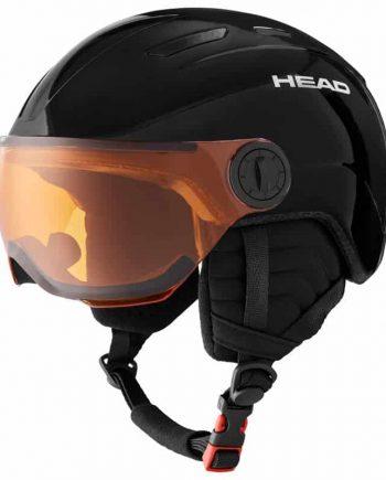 HEAD MOJO VISOR BLACK Junior skihelm