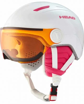 HEAD MAJA VISOR WHITE Junior skihelm